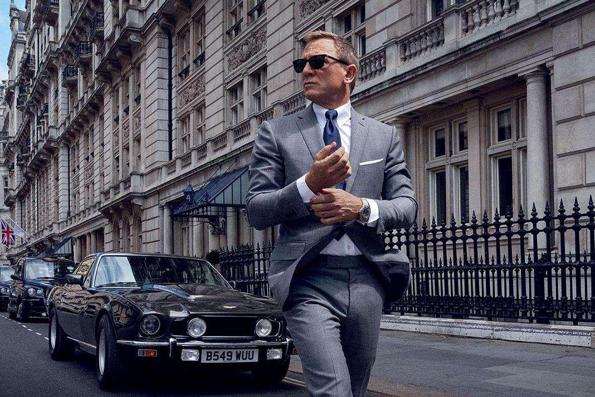 """un frame del film di Bond """"No time to die"""""""