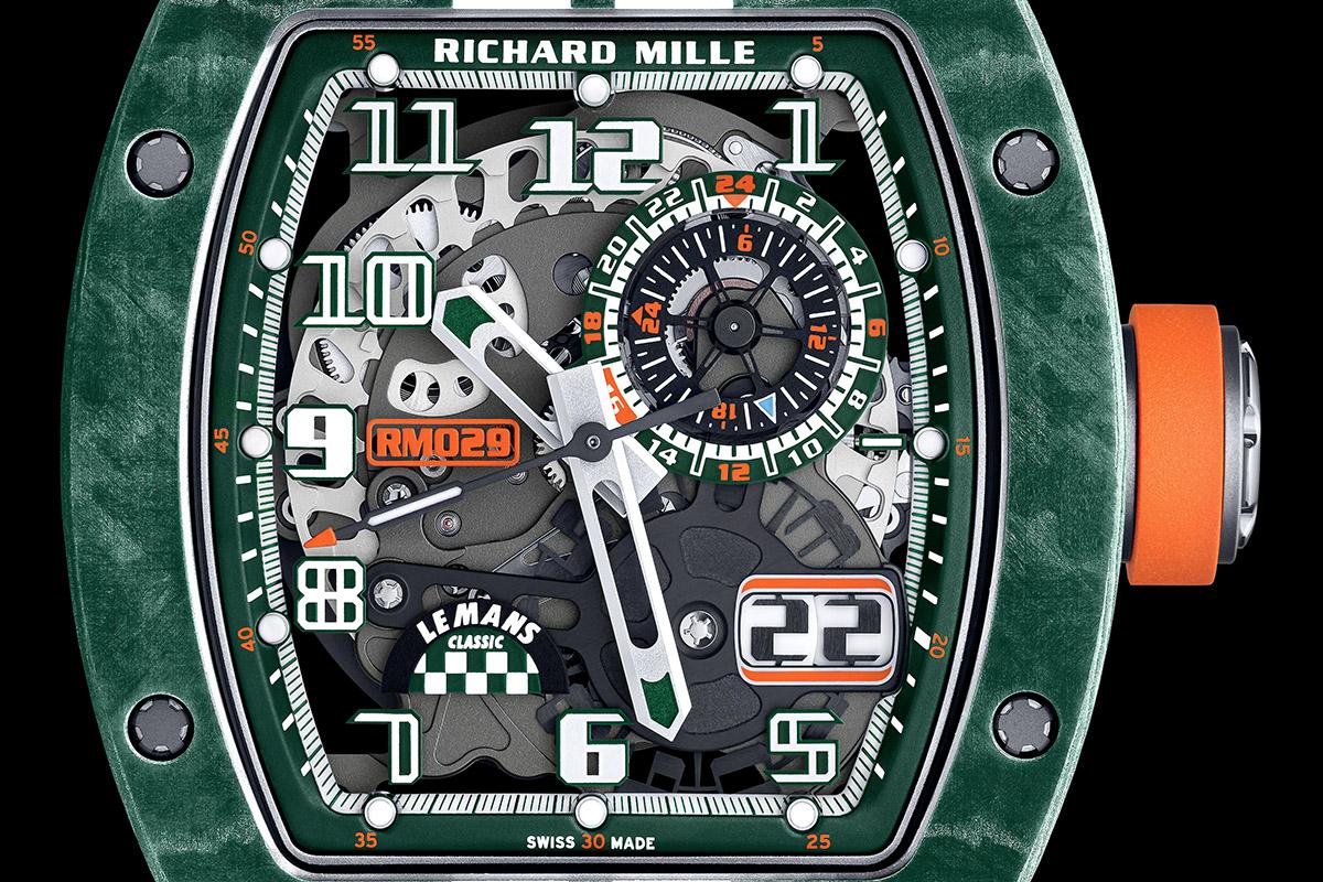 Il quadrante dell'RM 029 Le Mans Classic